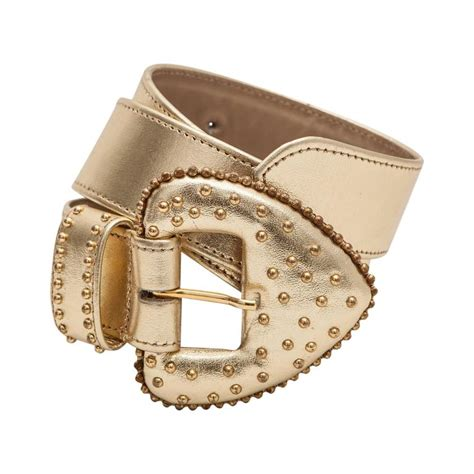 yves laurent gold leather belt for sale at 1stdibs