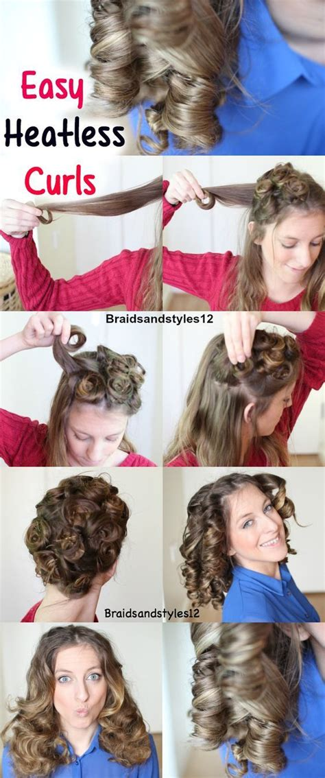 Hair Curlers Overnight by 25 Best Heatless Curls Overnight Ideas On