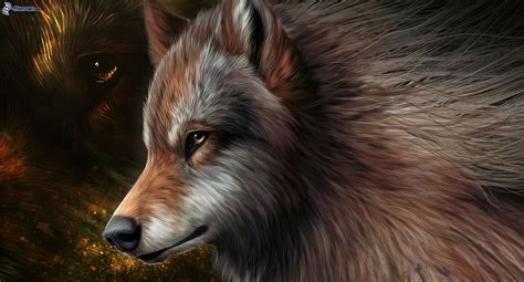 imagenes de lobos en 4k gezeichneter wolf