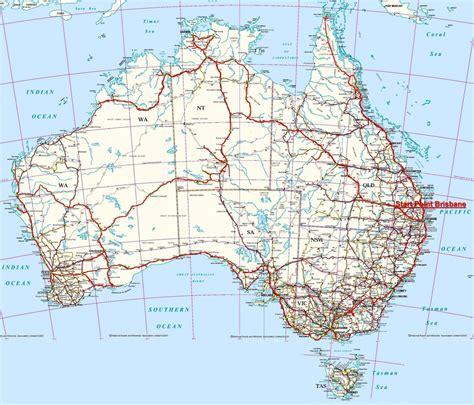 map around australia traveling around australia map