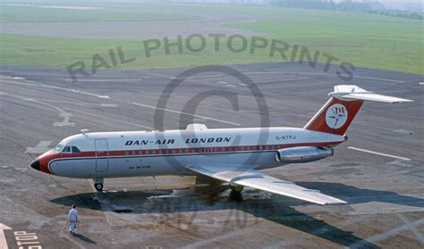4 Dan Air rail photoprints aircraft by airline