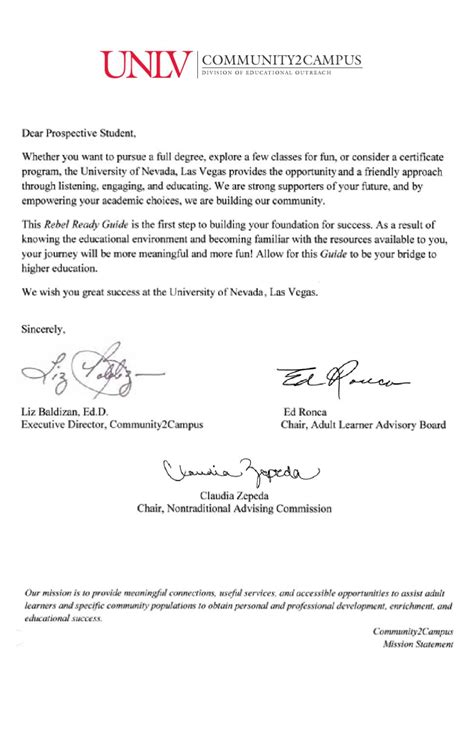 Dispute Letter Of Administration Unlv Rebel Ready Guide By Unlv Division Of Educational Outreach Issuu