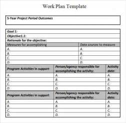 works templates work plan template 17 free documents for word