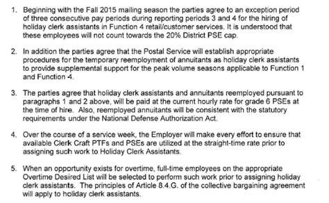 Offer Letter Usps usps offer to apwu retirees for clerk assistant postalreporter