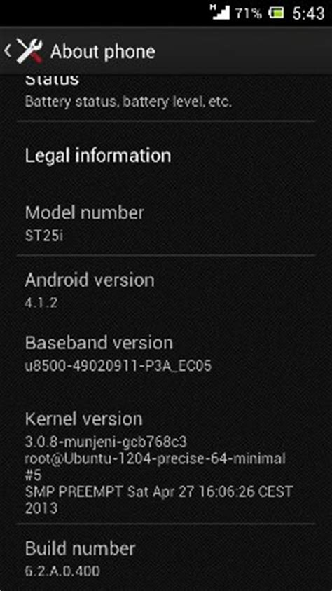 android kernel version install android 4 1 2 jelly bean in xperia u st25i 3 0 8 kernel