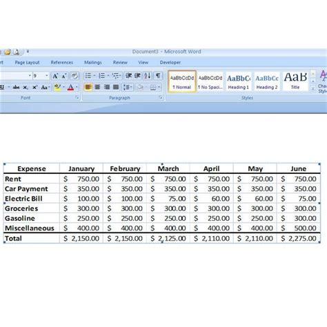 How To Insert Excel Table Into Word by How To Insert Excel Data Into Microsoft Word 2007 A Step