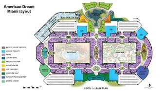Florida Mall Floor Plan by American Dream Miami Mega Mall Unveils Floor Plan Sun