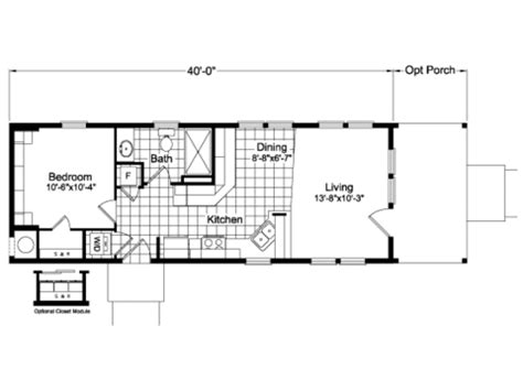 fema trailer floor plan view the paradise floor plan for a 580 sq ft palm harbor
