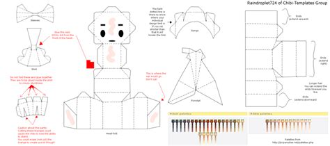 Chibi Papercraft Template - papercraft template by raindroplet724 on deviantart