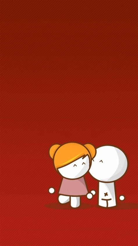 kiss cartoon couple iphone  wallpapers hd