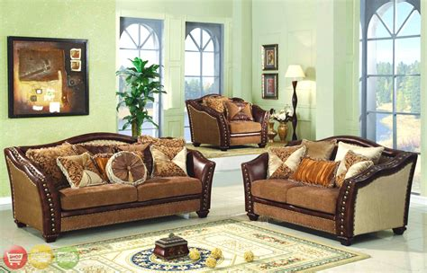 nailhead trim sofa set chateau palace luxury nailhead trim living room sofa set