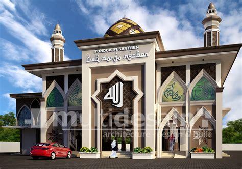 contoh desain gapura masjid desain masjid multidesain arsitek