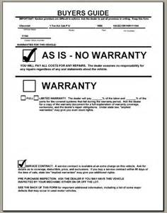 used car warranty template enforcing your product warranty the warranty