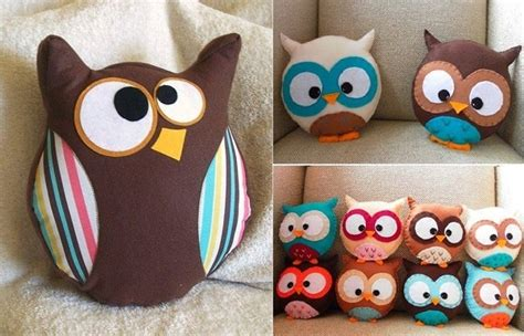fabric crafts pillows make an owl pillow diy project alldaychic