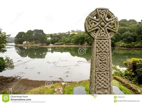 st just in roseland church looking to the estuary stock image image of looking coastline