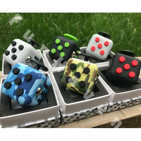 desk toys for adults fidget cube fiddle toys vinyl desk cubes uk adults children stress adhd ebay