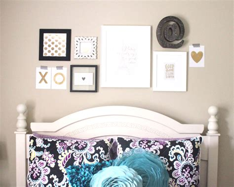 Cute Bedroom Decorating Ideas home decor an over the bed gallery wall me amp my big ideas