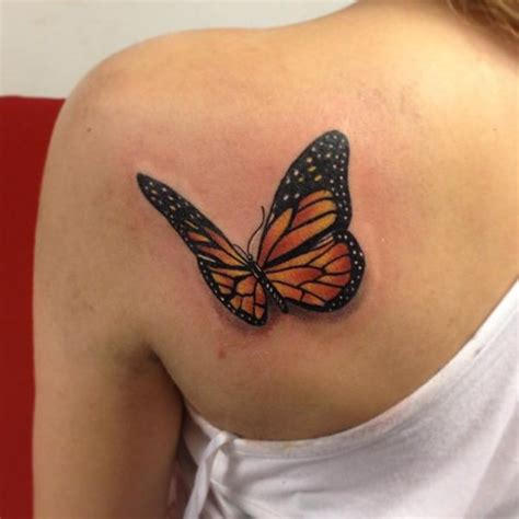 butterfly shoulder tattoos shoulder realistic butterfly 3d by fatih odabaş