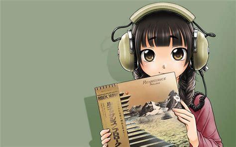 anime girl wallpaper album cute anime girl wearing headphones wallpaper album list