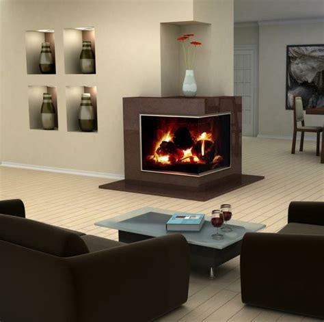 Wohnzimmer Desing 4296 den kamin k 246 nnen sie zweiseitig mit eck design gestalten