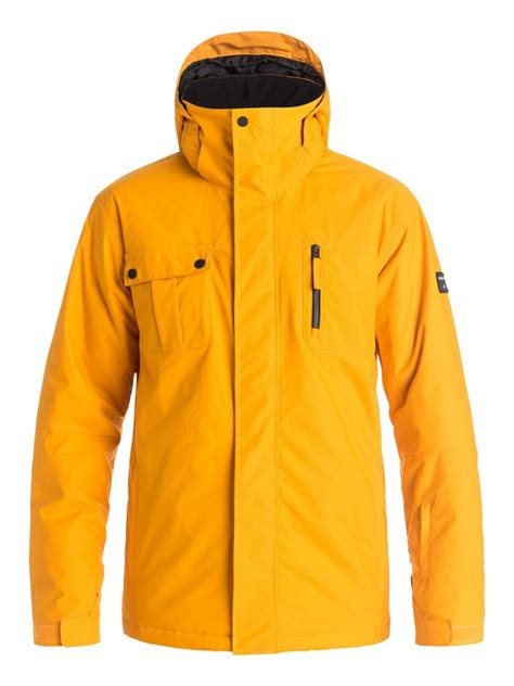 Jaket Quicksilver Yellow mission solid snow jacket 3613371713645 quiksilver