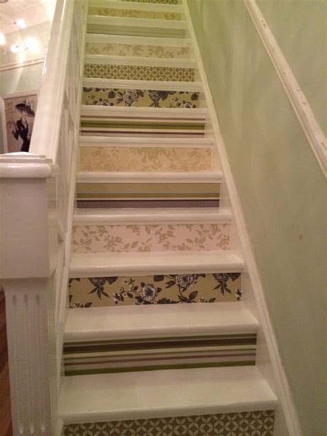 Decorative Stair Risers by Wallpapered Stair Risers Decorative Stair Risers