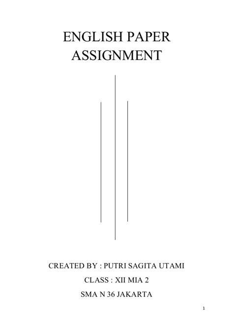 format essay bahasa inggris english paper assigment tugas makalah bahasa inggris