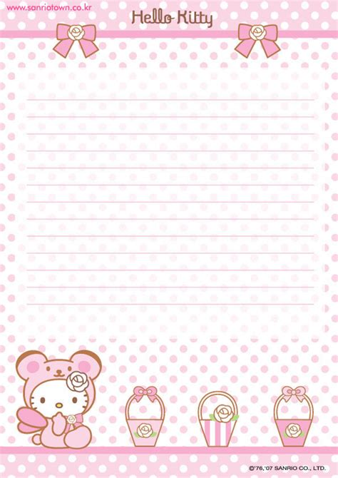 Stationery Hello hello printable letter stationary hello forever