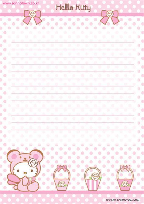 printable hello kitty letters hello kitty printable letter stationary hello kitty forever