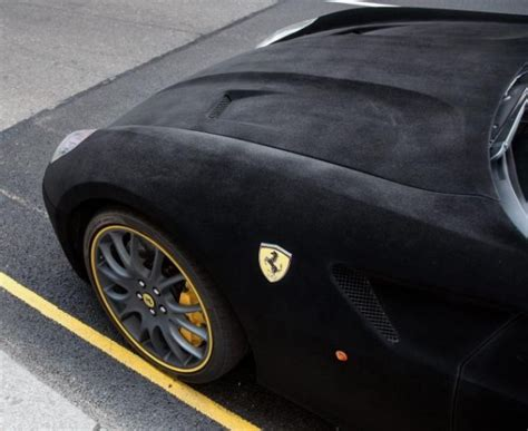 velvet ferrari the velvet covered ferrari 599 dubbed furrari isn t all