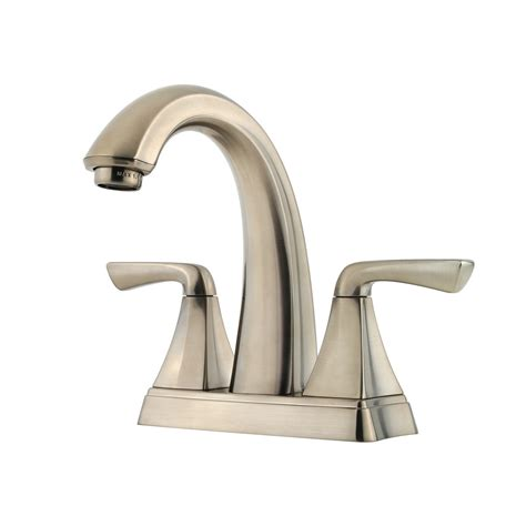 brushed nickel faucets bathroom shop pfister selia brushed nickel 2 handle 4 in centerset