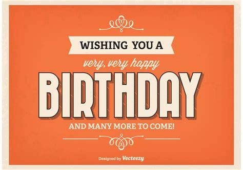 Plakat Geburtstag by Retro Style Birthday Poster Free Vector