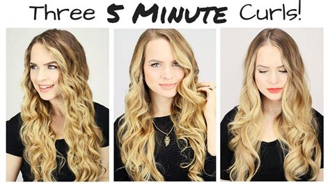 3 amazing everyday hairstyles in 3 minutes three 5 minute curls youtube