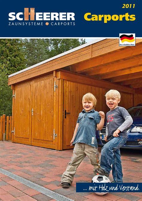 scheerer carports scheerer carport katalog 2011 by w l gmbh issuu