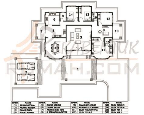 layout rumah 4 bilik design rumah d1 18 4b 2ba 82 x61 2745 kaki persegi