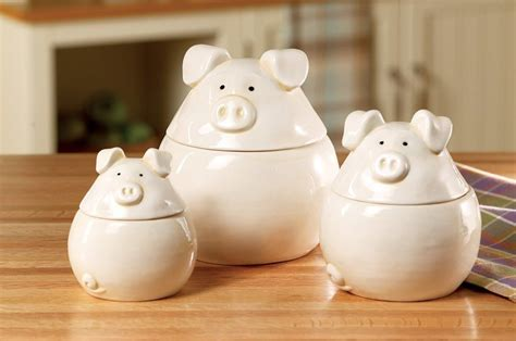 cute kitchen canister sets pigs jars containers pale pink canister set kitchen
