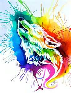 colorful wolf best ideas about watercolor shading watercolor and