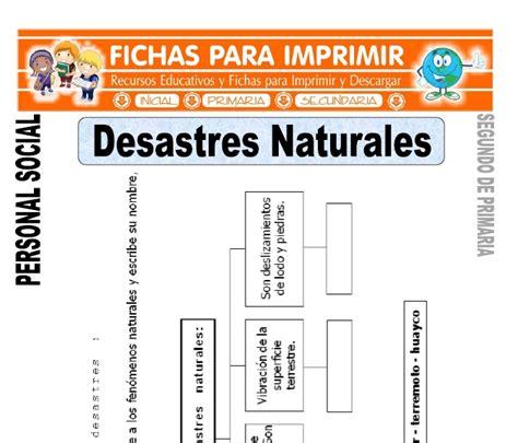 imagenes desastres naturales para imprimir desastres naturales para segundo de primaria fichas para