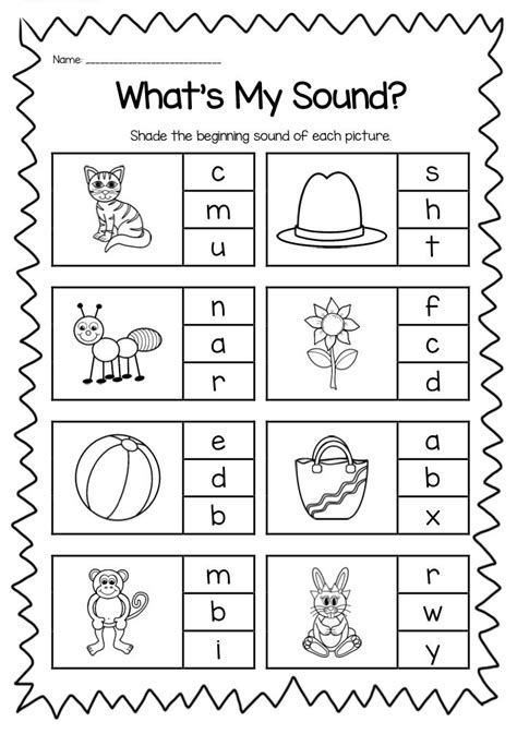 free printable letters and sounds worksheets beginning sounds printable worksheet pack kindergarten