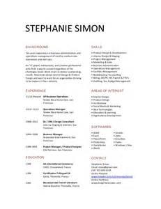 stephanie simon short resume