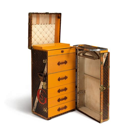 Travel Wardrobe Trunk by This Vintage Travel Trunk Interior Delights