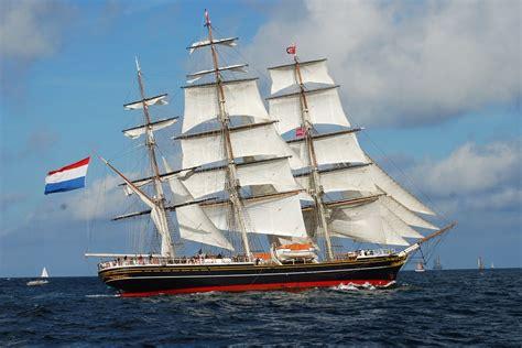 sailing boat with 3 masts free stock photo clipper ship tall masts sailing