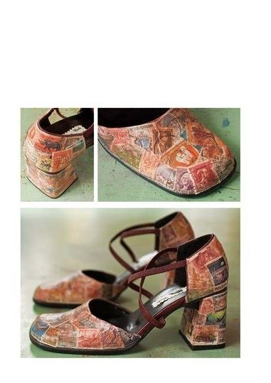 Decoupage Shoes With Paper - 112 best images about zapatos tuneados on