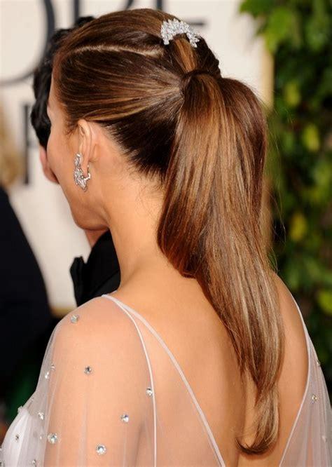 jennifer lopez hairstyles sleek  straight ponytail