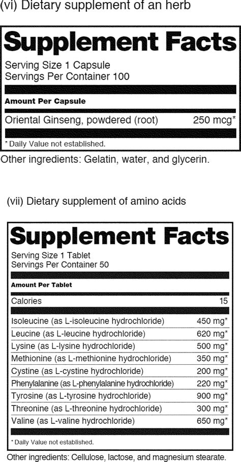 supplement facts template ingredient label template sle of letter of inquiry for