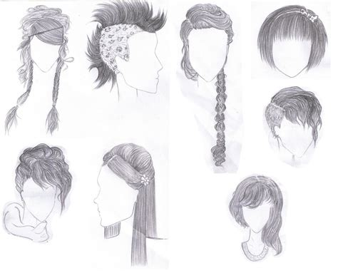 medium length hairstyle sketches drawn hairstyles sketch coloring page
