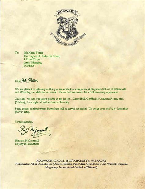 I M A What Harry Potter Pinterest Hogwarts Harry Potter Letter Template 2
