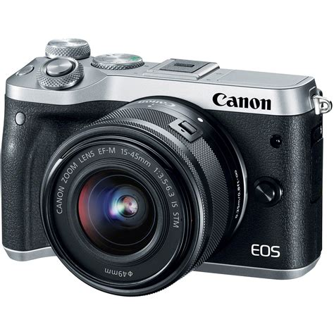 canon mirrorless canon eos m6 mirrorless digital with 15 45mm
