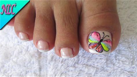imagenes uñas decoradas con mariposas decoraci 211 n de u 209 as mariposa para pies decoraci 211 n de