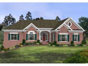 Brick Home Designs Gallery For Gt One Story Brick House Plans